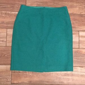 J-crew Kelly green pencil skirt.